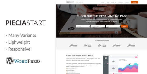 Piecia v1.0 - One Page WordPress Landing Page