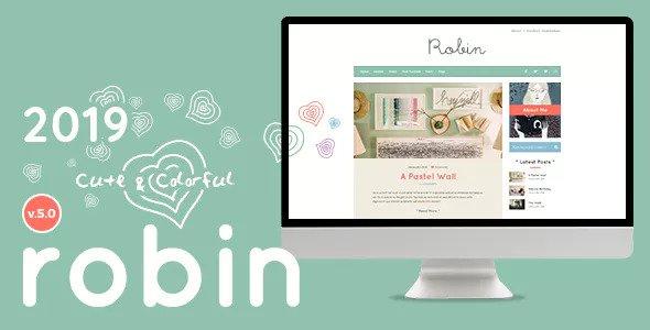 Robin v5.3 - Cute & Colorful Blog Theme