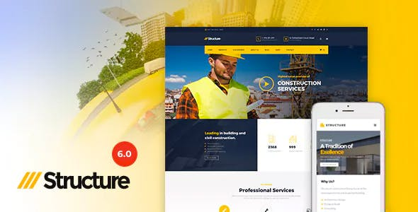 Construction Structure v6.2.1 - Construction Industrial Factory WordPress Theme