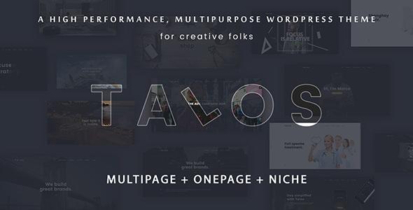 Talos v1.3.0 - Creative Multipurpose WordPress Theme