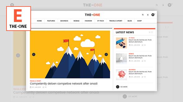 The One v1.8 - News Magazine Blog WordPress Theme