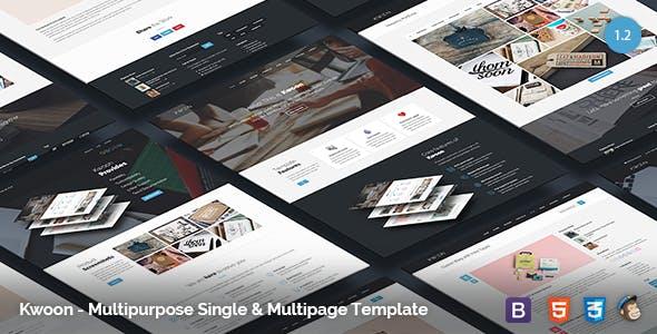 Kwoon v1.2.6 - Multipurpose Single, Multi-page Template