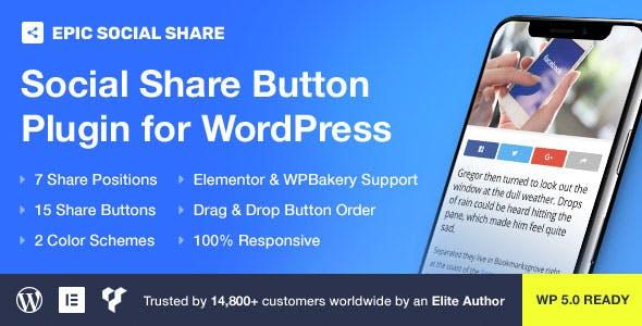 Epic Social Share Button for WordPress v1.0.0