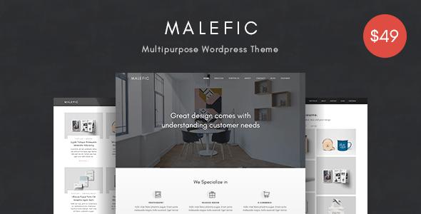 Malefic v1.0.2 - One Page Responsive WordPress Theme