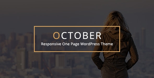 October v2.1 - Responsive One Page WordPress Theme