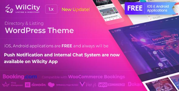 Wilcity v1.1.7.4.1 - Directory Listing WordPress Theme