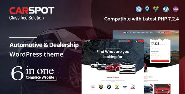 CarSpot v2.1.9 – Automotive Car Dealer WordPress Classified Theme