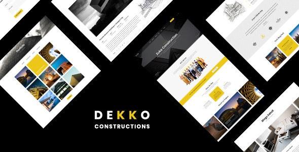 Dekko v1.0 - Construction HTML5 Template
