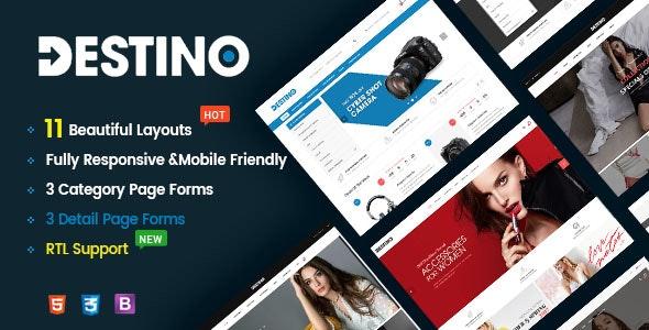 Destino v1.0 - Responsive & Multi-Purpose HTML5 Template