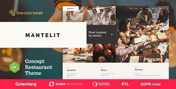 Mantelit v1.0.3 - Restaurant WordPress Theme
