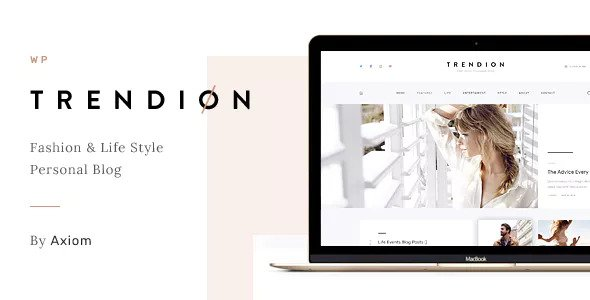 Trendion v1.1.4 - A Personal Lifestyle Blog and Magazine