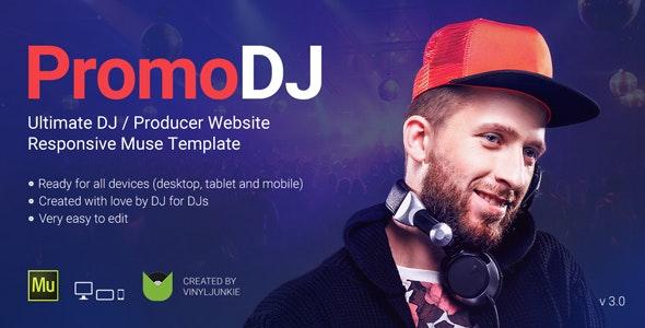 PromoDJ v3.0 - DJ / Producer / Musician Website Responsive Muse Template