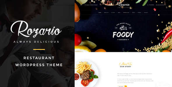 Rozario v1.4 - Restaurant & Food WordPress Theme