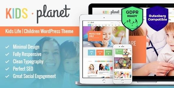 Kids Planet v2.2.3 - A Multipurpose Children WordPress Theme for Kindergarten and Playgroup