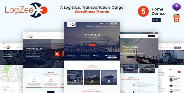 Logzee v1.0 - Logistics, Transportation, Cargo WordPress Theme