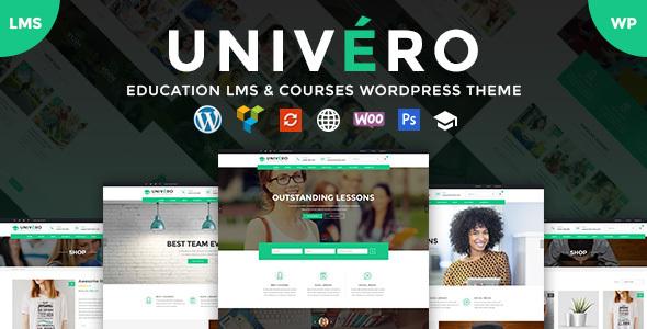 Univero v1.4 - Education LMS & Courses WordPress Theme