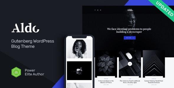 Aldo v1.0 - Black and White Gutenberg Blog WordPress Theme