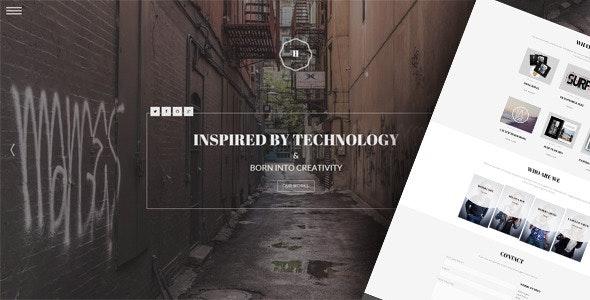 Hephaestus v1.0 - One-Page Creative Template