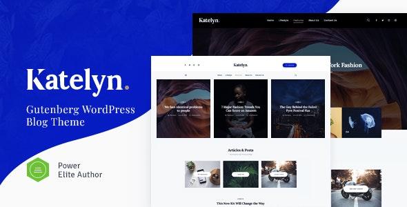 Katelyn v1.0.2 - Creative Gutenberg Blog WordPress Theme