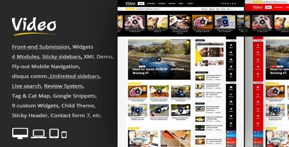 Video News v3.1 - WordPress Magazine / Newspaper Theme