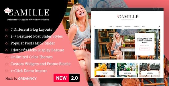 Camille v2.0.1 - Personal & Magazine WordPress Theme