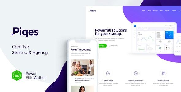 Piqes v1.0.1 - Creative Startup & Agency WordPress Theme