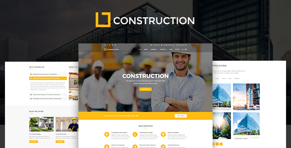 Construction v1.0.9.3 - Business & Building Company WordPress Theme