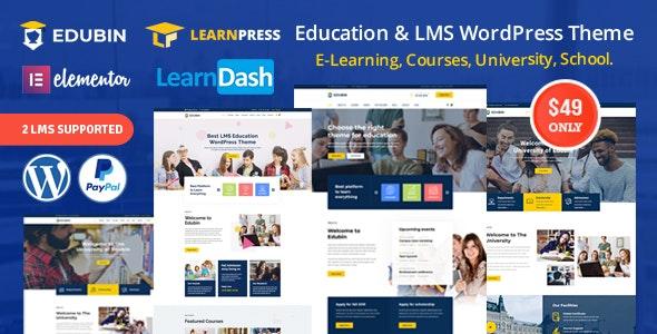 Edubin v5.0.3 - Education LMS WordPress Theme