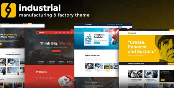 Industrial v1.3.3 - Corporate, Industry & Factory WordPress Themes