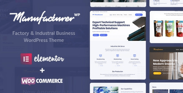 Manufacturer v1.2.1 - Factory and Industrial WordPress Theme Nulled
