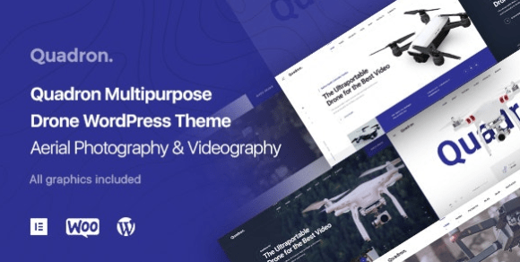 Quadron v1.0.9 - Aerial Photography & Videography Drone WordPress Theme