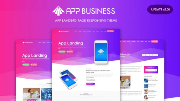 App Business Landing Page Responsive Blogger Template v2.0
