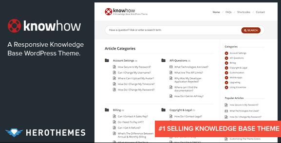 KnowHow v1.1.12 - A Knowledge Base WordPress Theme