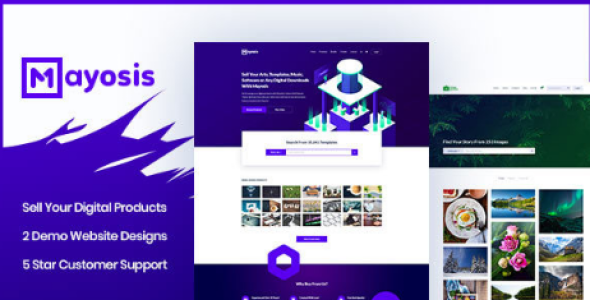 Mayosis v2.8.3 - Digital Marketplace WordPress Theme