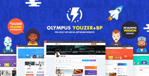 Olympus v3.8 - Powerful bodypress theme for social networking