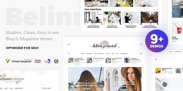 Belinni v1.5.1 - Multi-Concept Blog / Magazine WordPress Theme