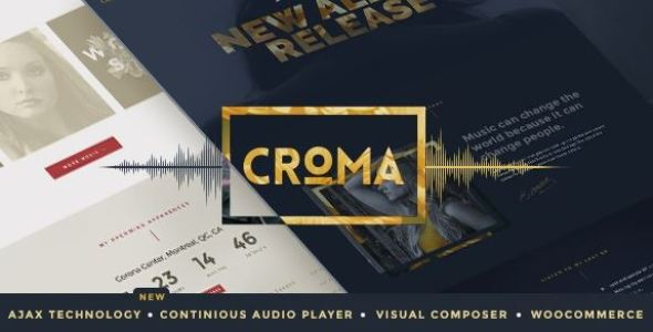 Croma v3.5.6 - Responsive Music WordPress Theme with Ajax and Continuous Playback