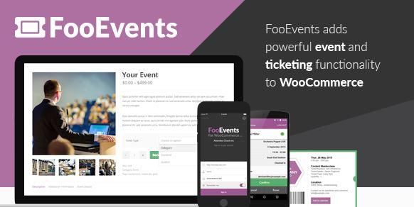FooEvents for WooCommerce v1.12.7 + Addons