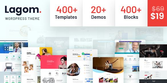 Lagom v1.2 - Multi Concept MultiPurpose WordPress Theme