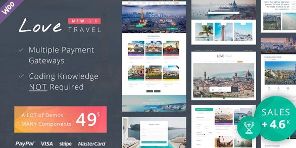 Love Travel v3.8 - Creative Travel Agency WordPress
