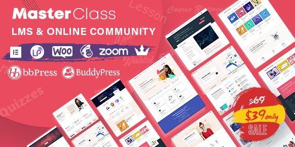 MasterClass v1.1.2 - LMS & Education WordPress Theme