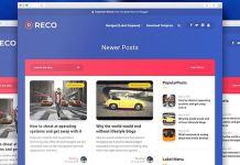 Reco for Blogger Template Premium