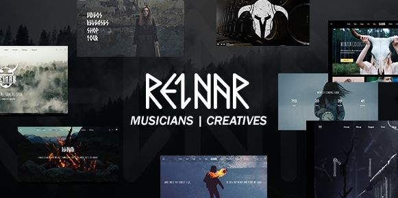 Reinar v1.2.7 - A Nordic Inspired Music and Creative WordPress Theme Nulled