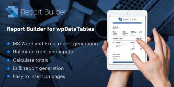 Report Builder add-on for wpDataTables v1.2