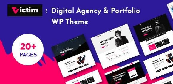 Victim v1.0.6 - Digital Agency & Portfolio WordPress Theme
