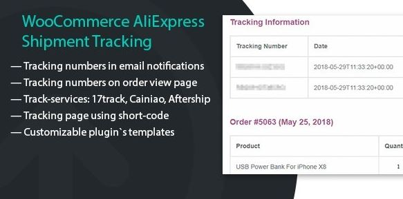 WooCommerce AliExpress Shipment Tracking v1.1.3