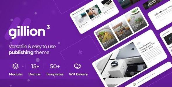 Gillion | Multi-Concept Blog/Magazine & Shop WordPress Theme v3.8