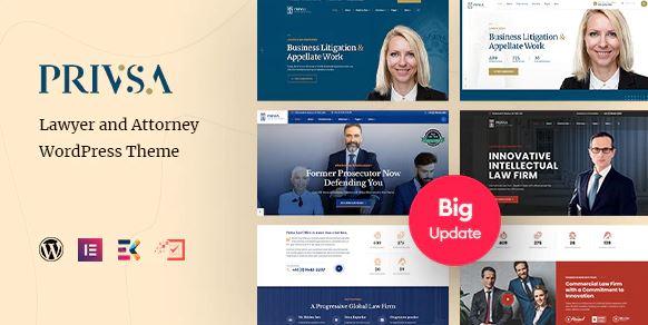 Privsa - Lawyer and Attorney WordPress Theme