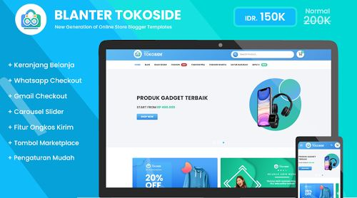 Blanter Tokoside Premium Blogger Template