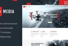 Drone Media   Aerial Photography & Videography WordPress Theme + RTL
